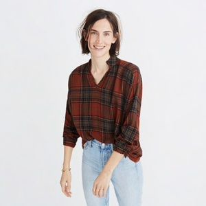 Madewell Highroad Popover Plaid Shirt